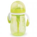 Бутылочка Happy Baby антиколиковая с ручками и силиконовой соской 300 мл 10020 Lime