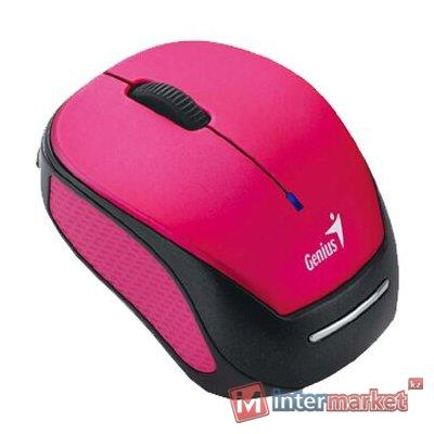 Компьютерная мышь, Genius, Micro Traveler 9000R V3, 3D, Оптическая, 800dpi, Беспроводная 2.4ГГц, Розовый